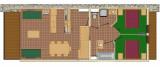 Plan de l'appartement 3P6, Les Balcons de La Rosière