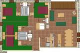 Plan de l'appartement 5P10, Les Balcons de La Rosière
