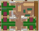 Plan de l'appartement 7P14, Les Balcons de La Rosière