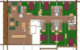 Plan de l'appartement 8P16, Les Balcons de La Rosière