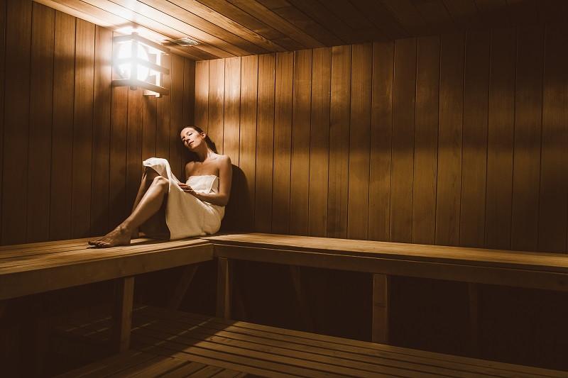 Sauna de la résidence, Les Cimes Blanches