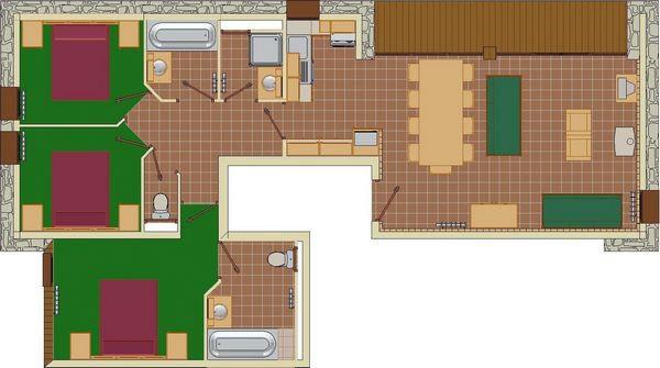 plan-de-l-appartement-4P8-les-balcons-de-la-rosiere