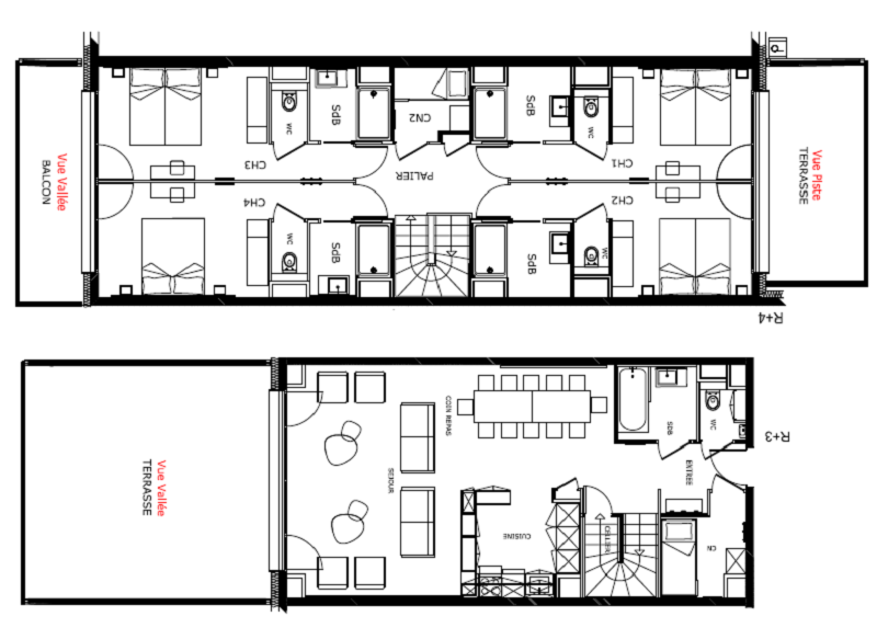Appartement 12 personnes au pied des pistes