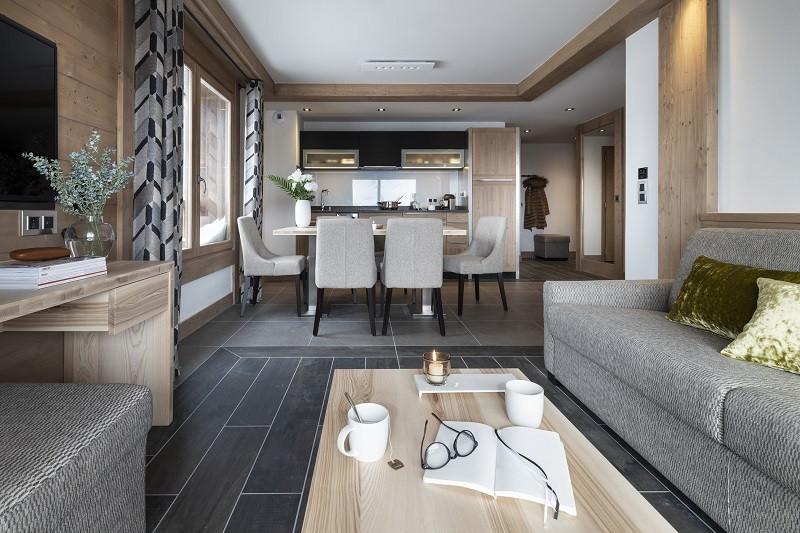 Séjour, Appartement 3P6PERS, Alpen Lodge, La Rosière, vue 2