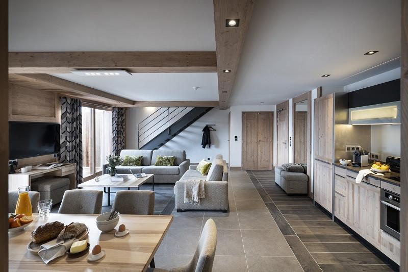 Séjour, Appartement 4P8PERSP , Alpen Lodge, La Rosière