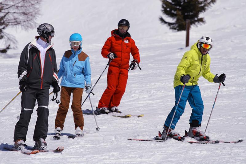cours de ski collectifs adulte et adolescents
